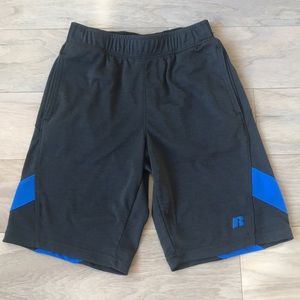 Russell Boys Black Athletic Shorts Size Age 8